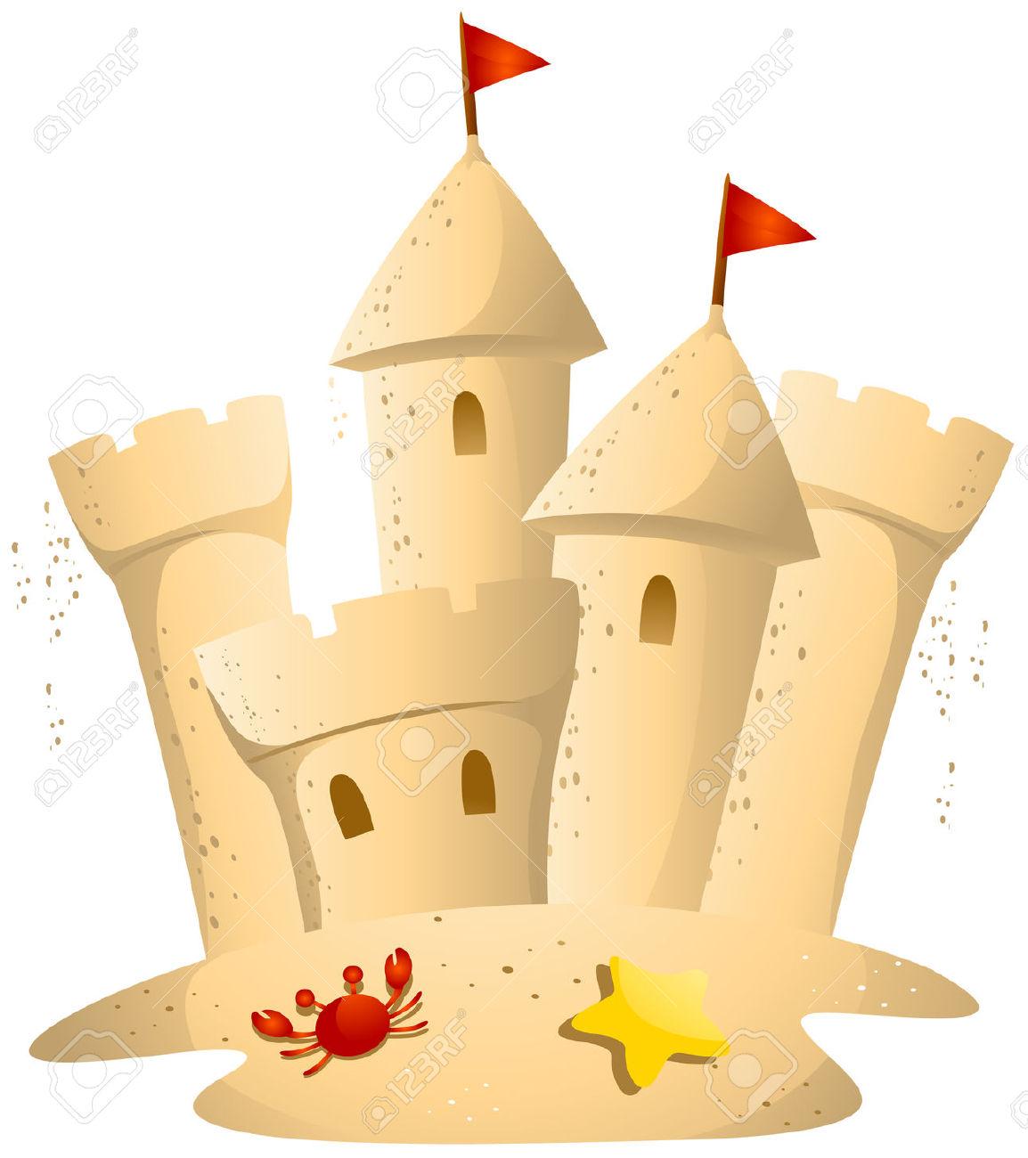 Sand castle images clip art - .