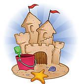 Sand Castle u0026middot; Sand Castle Beach Cartoon