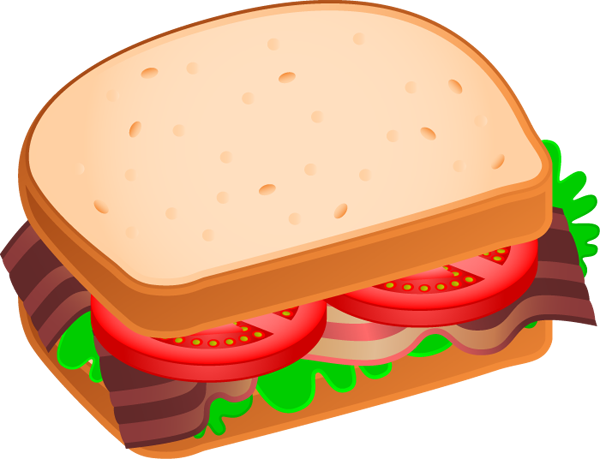 Sandwich Clip Art Black And White