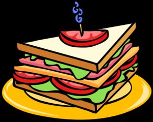 Sandwich Half Clip Art Vector Online Royalty Free