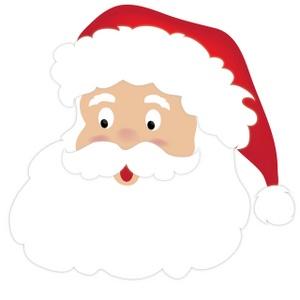 Santa Clipart Image Cute Cartoon Santa Claus Face