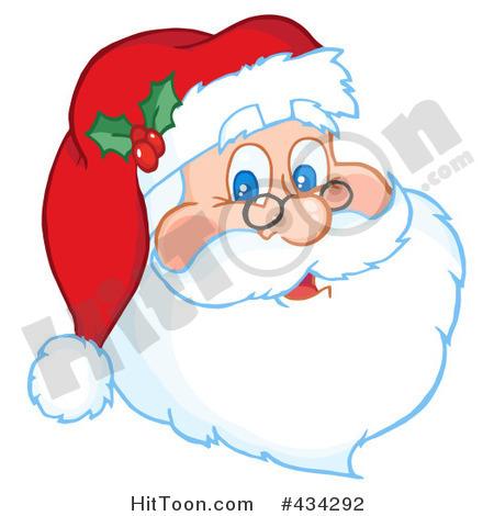 Santa Face Clip Art - .