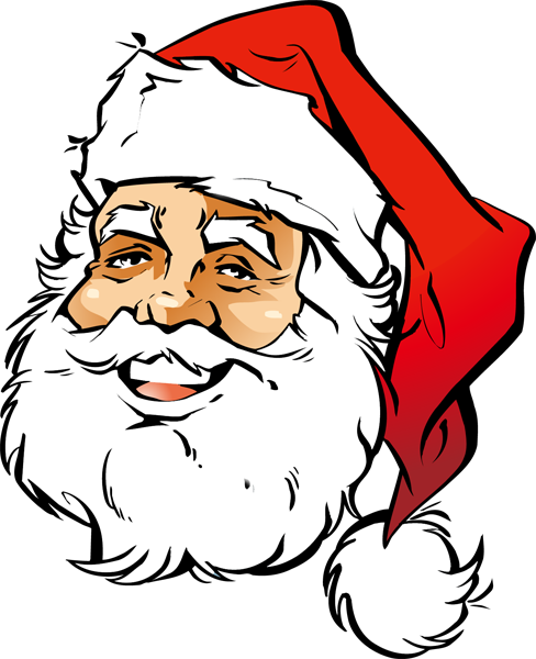Santa Face Picture - Clipart library