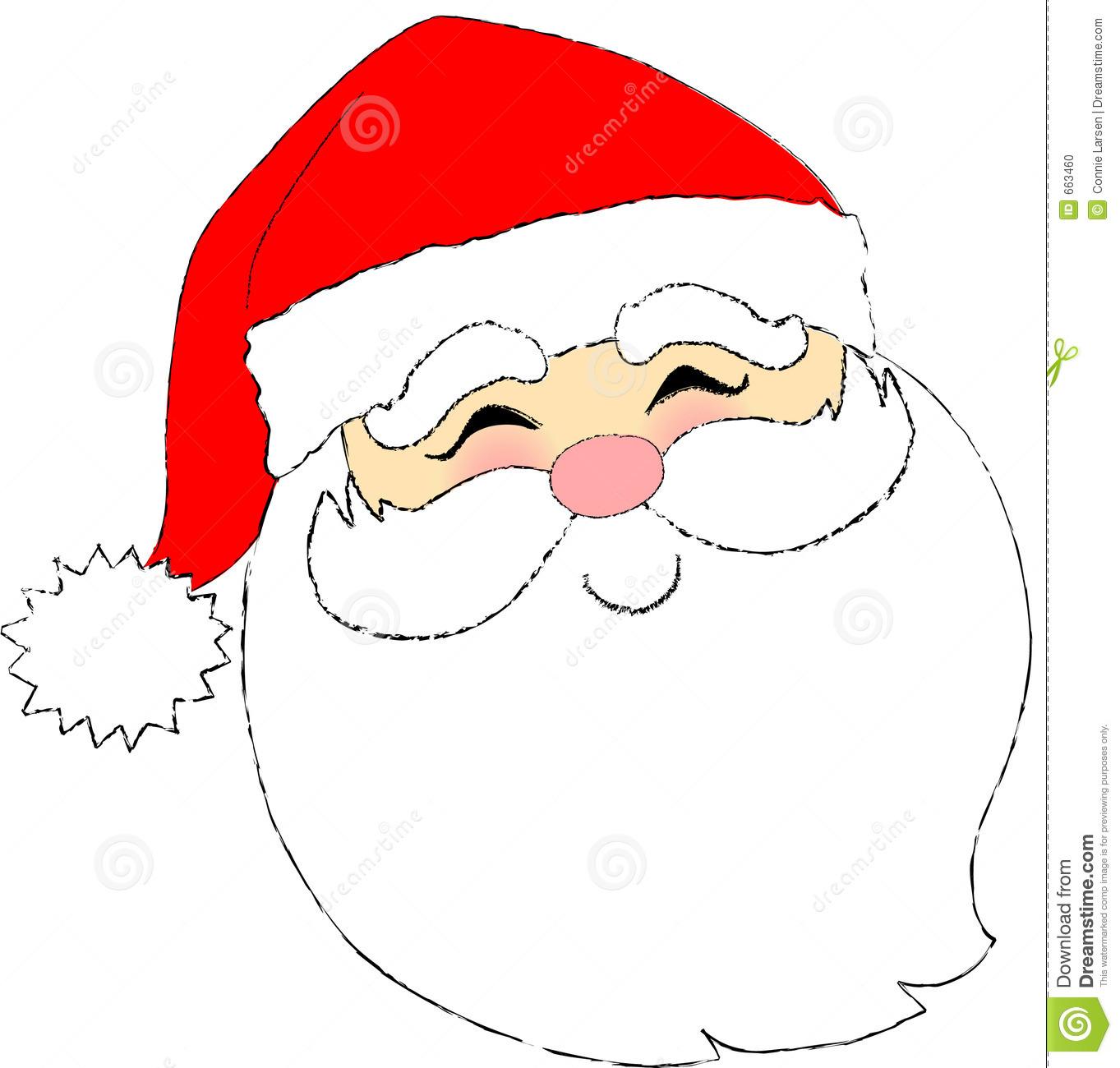 Santa Face Stock Photo - Image: 663460