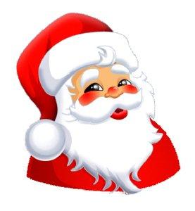 Santa Happy Face - ClipArt .