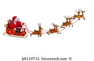santa with sleigh