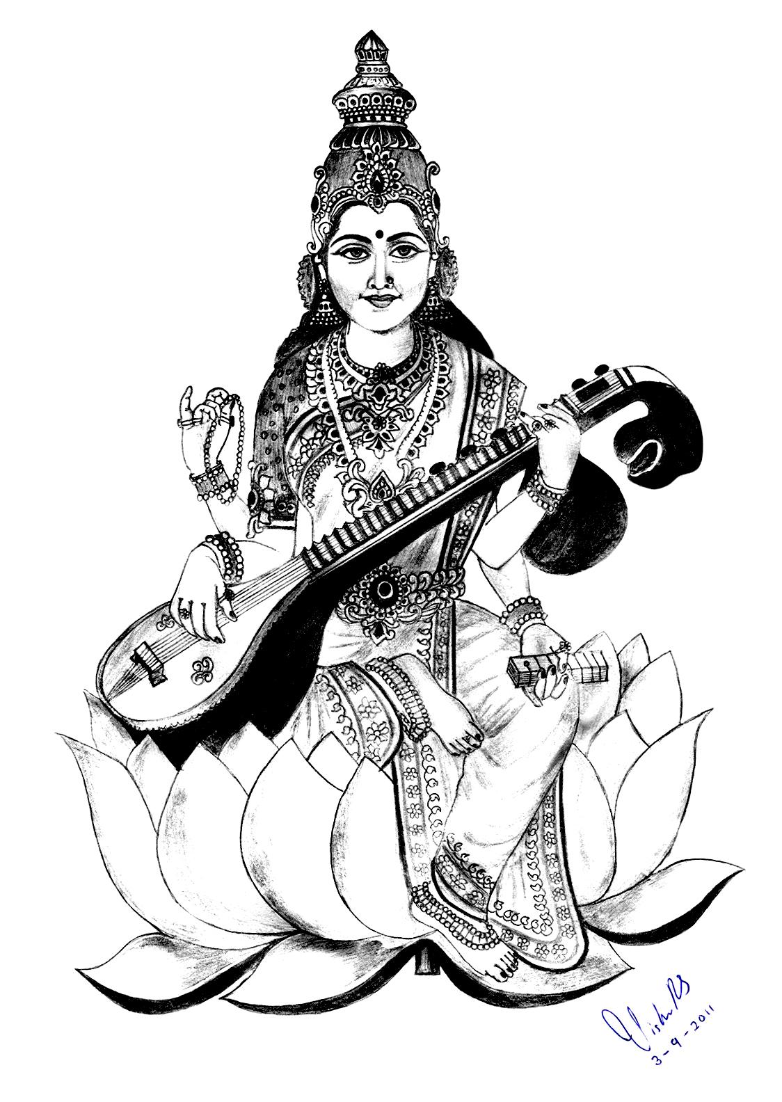 saraswati clipart 4