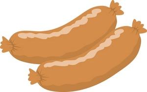 Sausage Clipart Drawing Of Two Sausage Links 0071 0907 0823 3623 Smu
