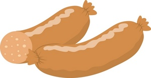 Sausage Clipart Image A Couple Of Sausage Links