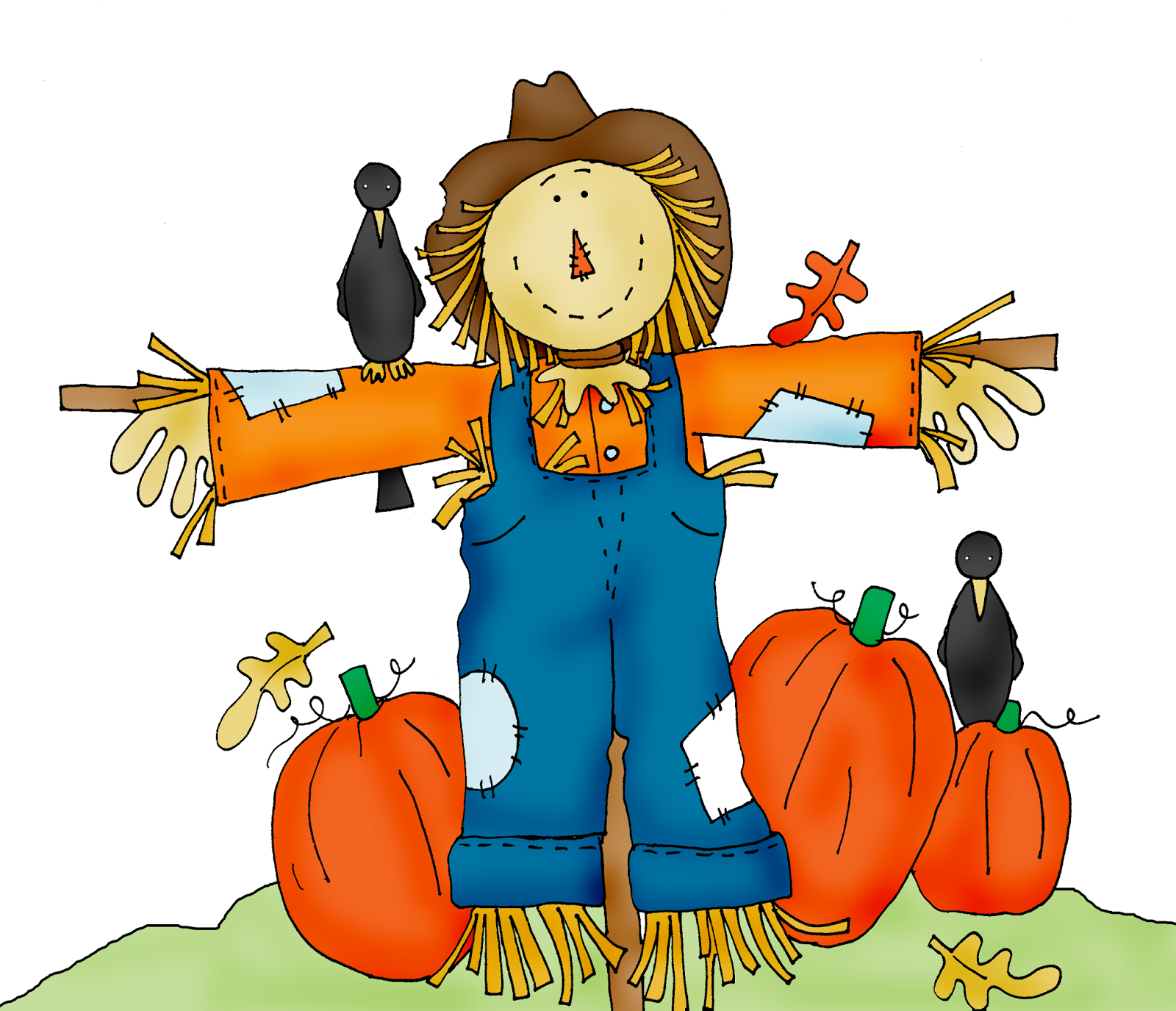 Scarecrow free halloween pumpkin patch clipart