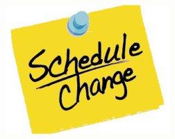 Schedule Change Clipart