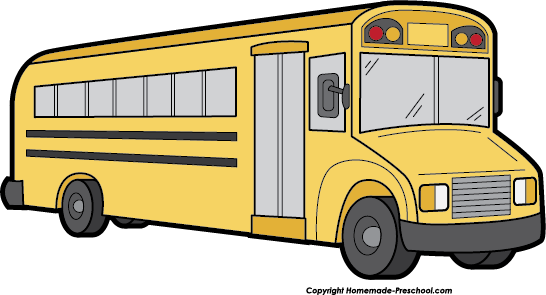 school bus clip art for kids