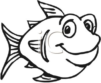 school of fish clipart black and white