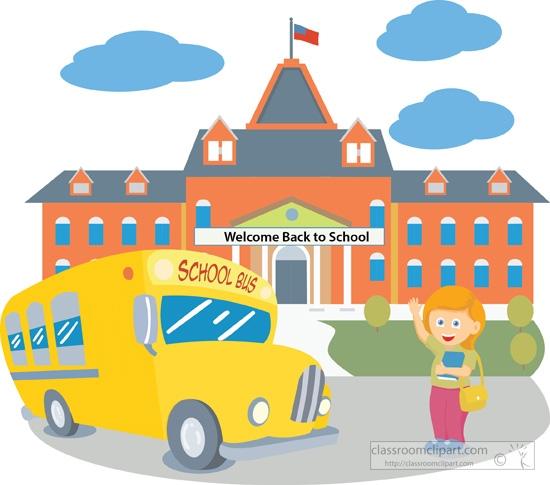 School Building Clipart Free - School Clipart
