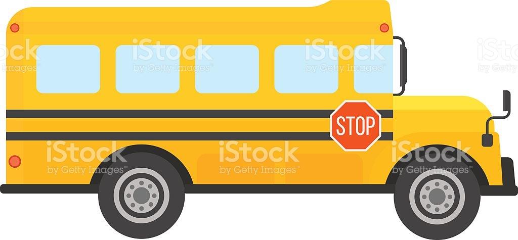 School bus vector isolated .