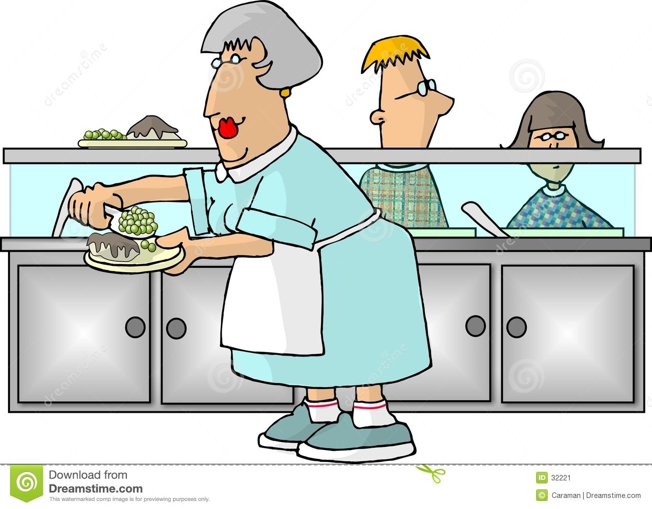 School Cafeteria Lady