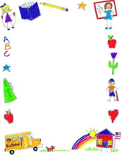 School Clip Art Borders | printable school borders image search results