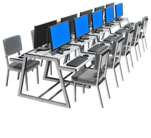 School Computer Lab Clipart