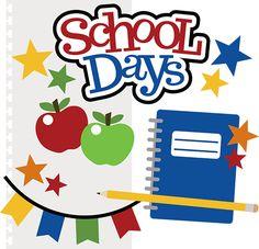 School Days SVG files for .
