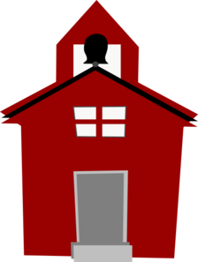 Red Schoolhouse Clip Art