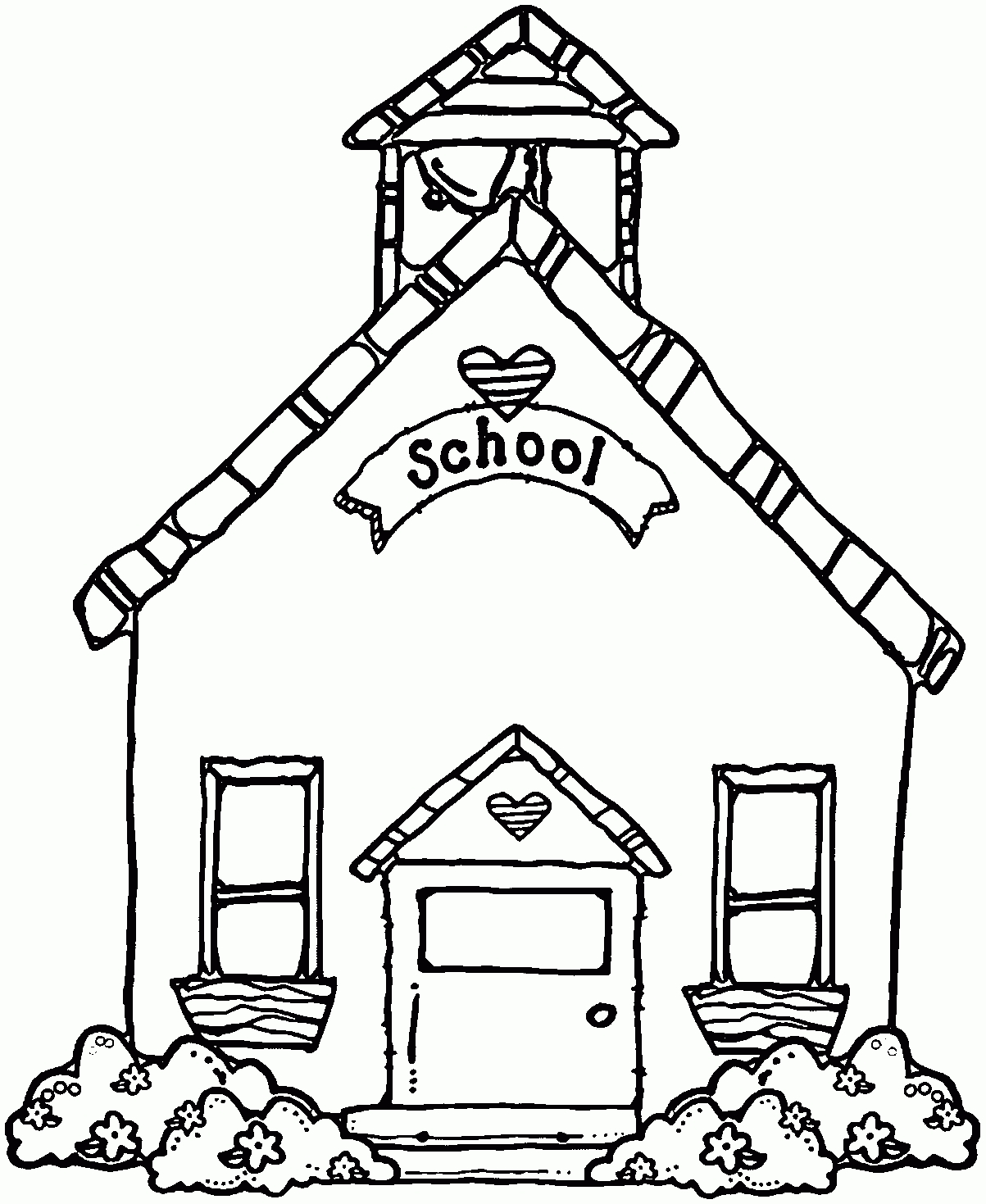 Schoolhouse School House Black And White Clipart Clipartfest with School  House Clipart Black And White 2663
