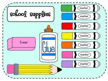 School Supplies Clip Art Mega .