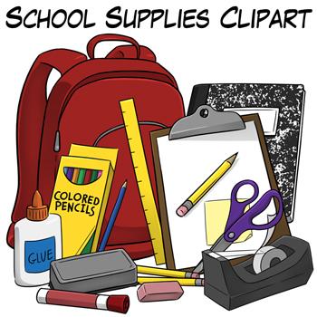 School Supplies Clip Art