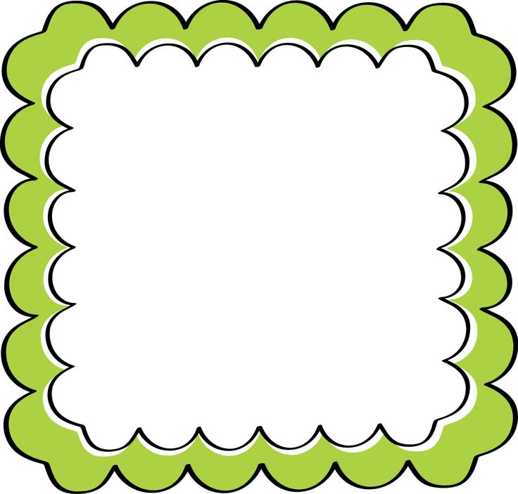 School theme border clipart green scalloped frame free clip 2