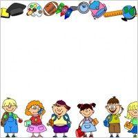 School Theme Border Clipart School Borders For Word Documents Free