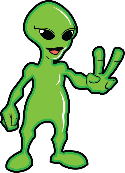 Free Clip-Art: Fantasy u0026 Sci-Fi » Science Fiction » Green Peaceful Alien