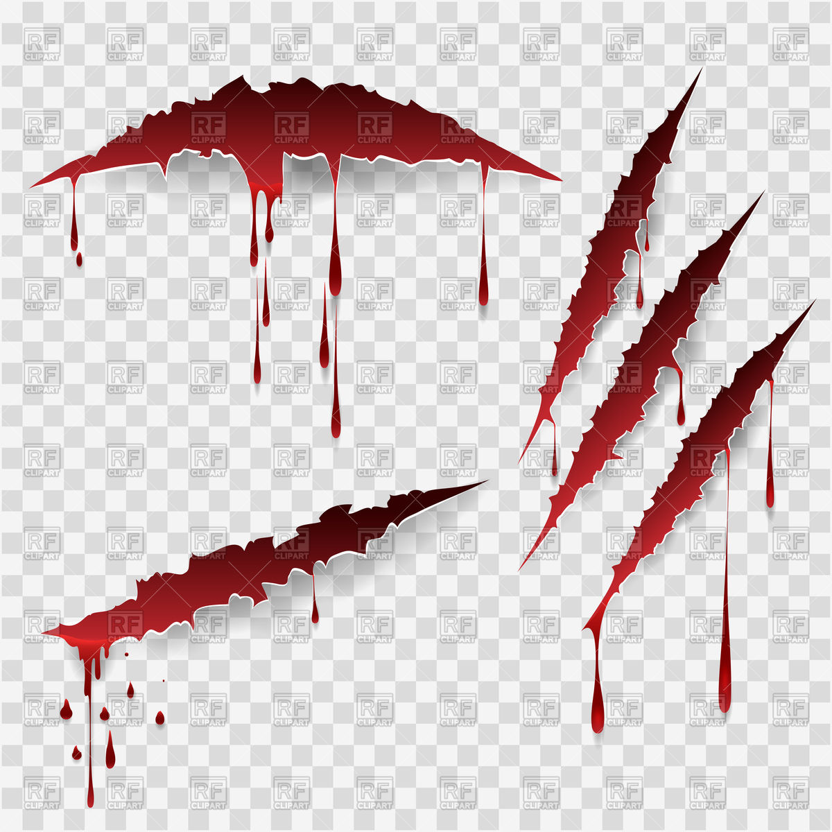 Bloody scratches Royalty Free - Scratches Clipart