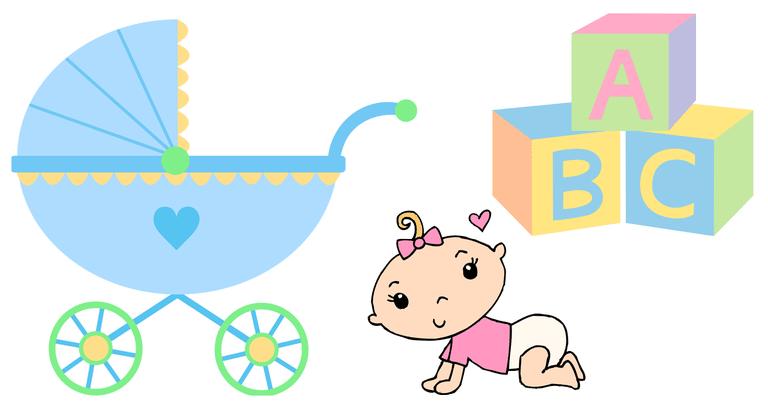 Screenshot of baby clip art from Sweet Clip Art