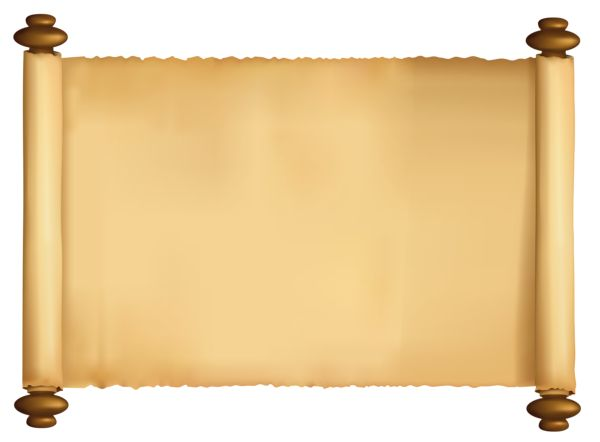 papyrus scroll clipart