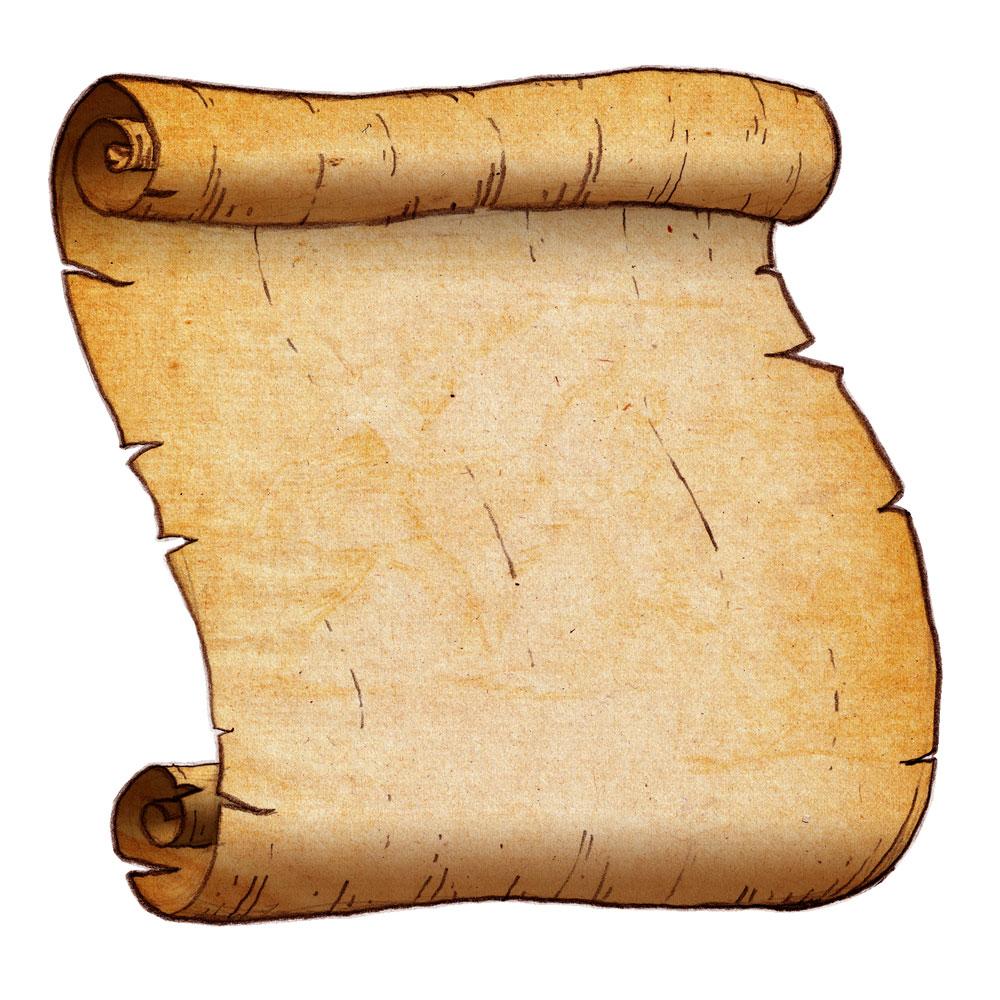 Photos of vertical scroll banner clip art parchment