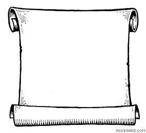 Scroll clipart #8