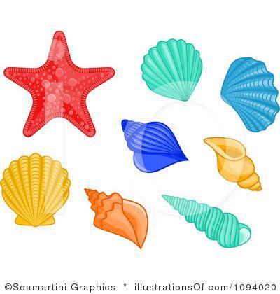sea life clipart shells .