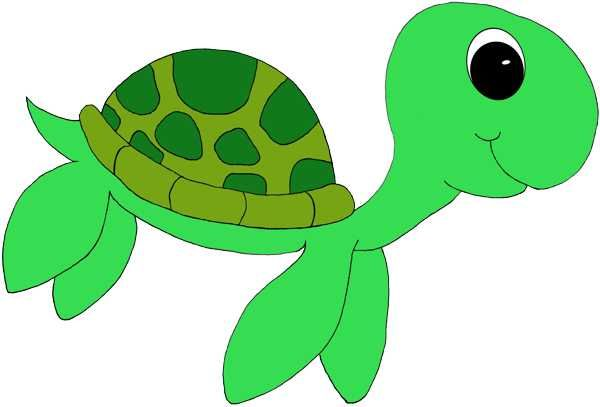 Cute Sea Turtle Clipart #1