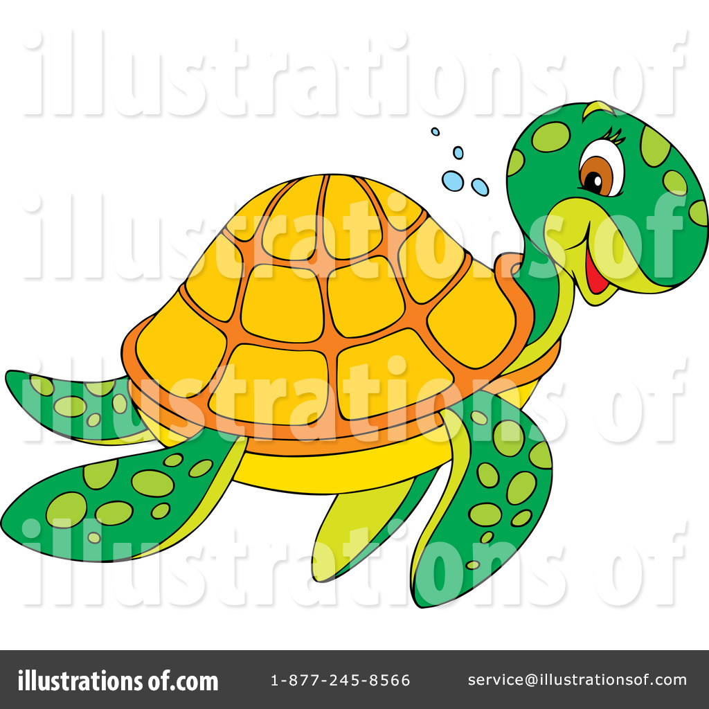 Royalty-Free (RF) Sea Turtle Clipart Illustration by Alex Bannykh - Stock  Sample