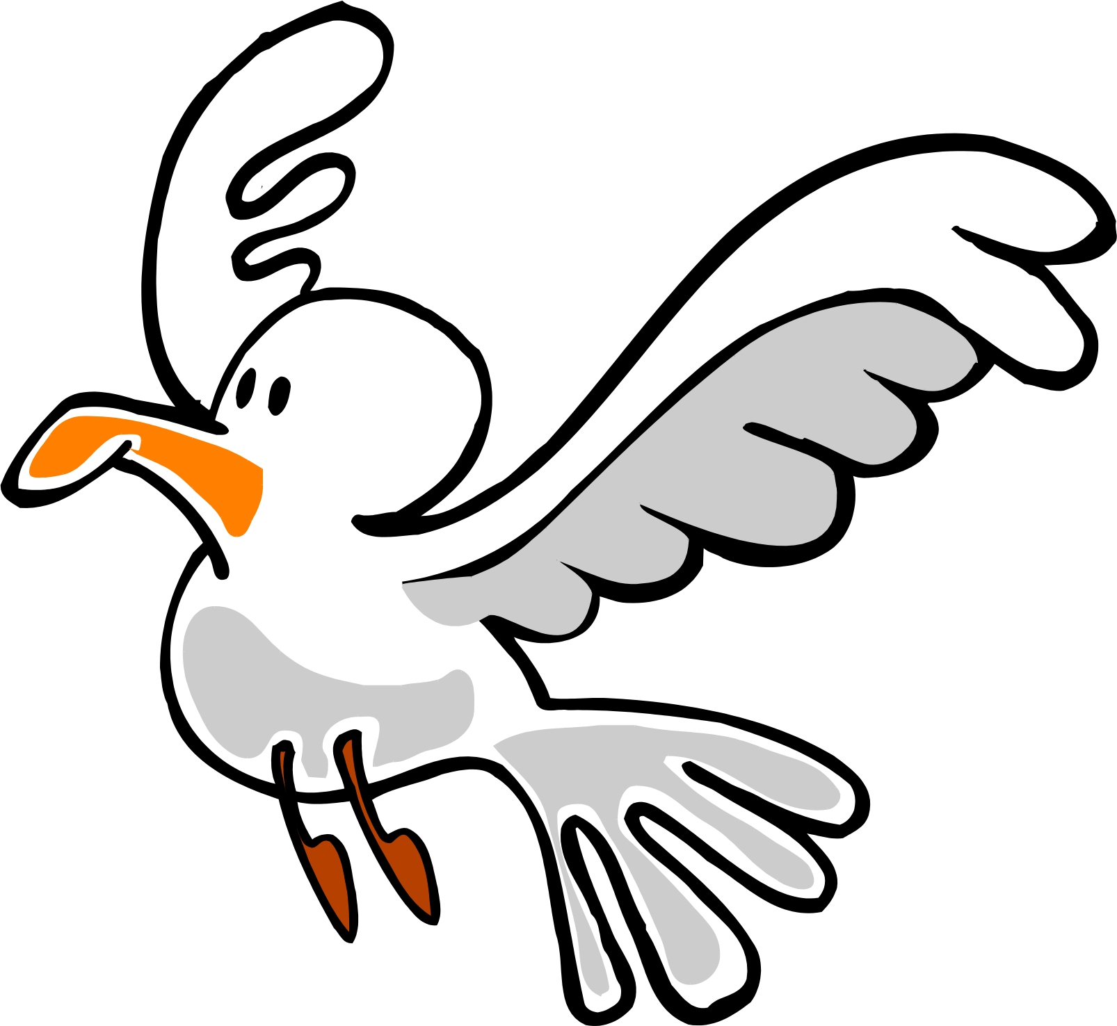 Cartoon Seagull Clipart #1
