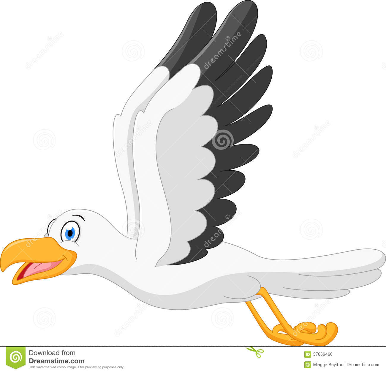 Seagull clipart feather #2
