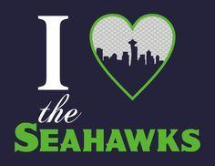 Seahawks Clip Art Free Heart The Hawks Print Seattle Seahawks Print