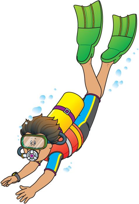 Seal Scuba Diver Clipart #1