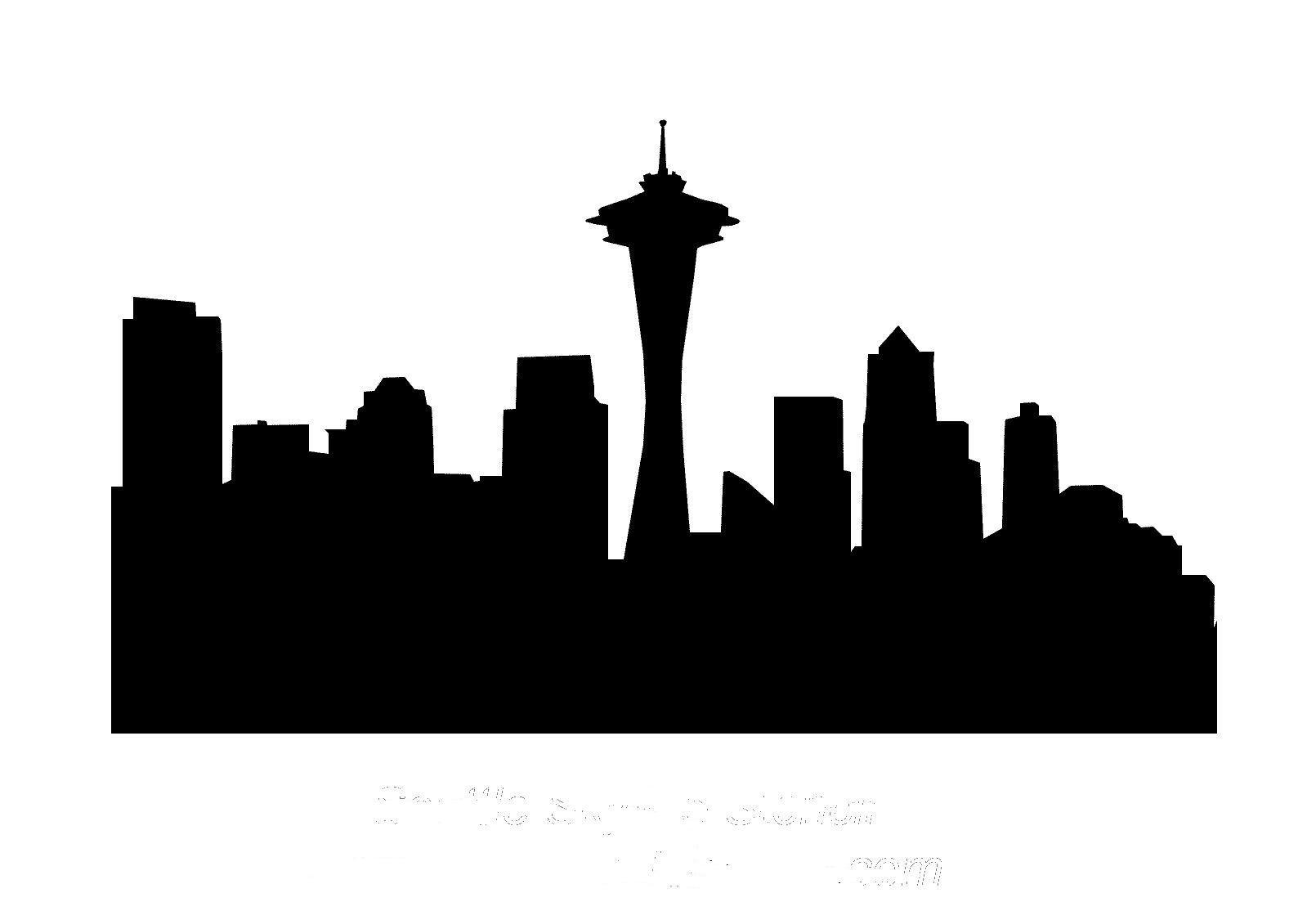 Seattle City Skyline Clip Art