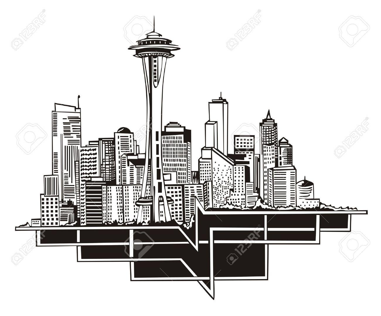seattle: Seattle, WA Skyline.