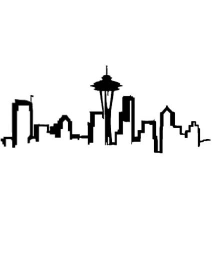Seattle Skyline Outline - ClipArt Best   Tattoo Brainstorm   Pinterest   Hoodies, At the top and Clip art