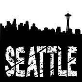 Seattle text with skyline