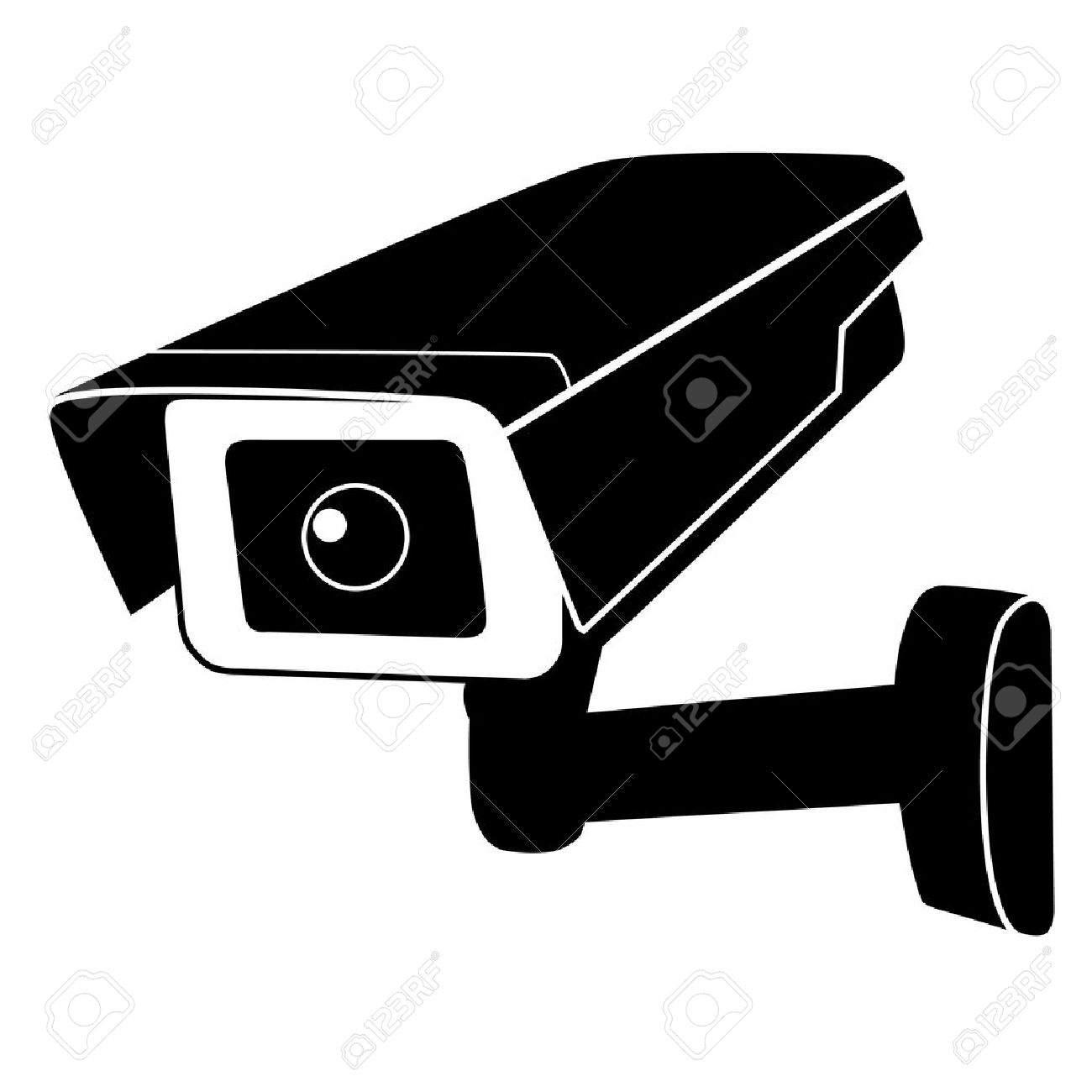 Surveillance camera vector icon. Surveillance monitors. Camera cctv, security  camera Stock Vector -