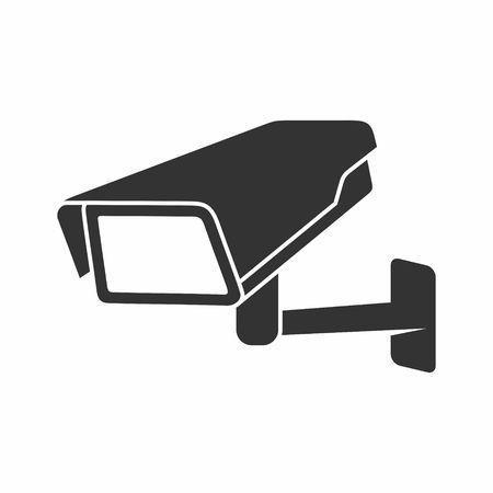 Video Surveillance Security Camera on a white background. Illustration