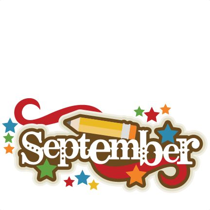 September clip art clipart clipartbold. September Title SVG scrapbook .
