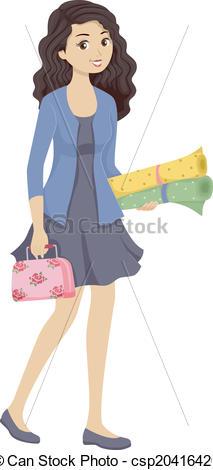 Sewing Kit Girl - csp20416420